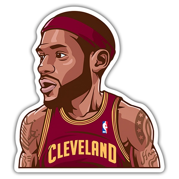 Car & Motorbike Stickers: NBA - Lebron James