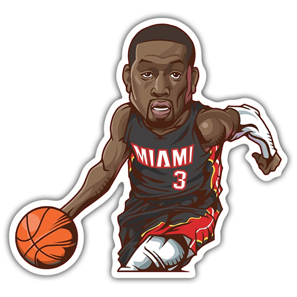Car & Motorbike Stickers: NBA - Dwayne Wade