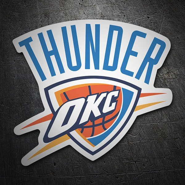 Car & Motorbike Stickers: NBA - Oklahoma City Thunder shield 1