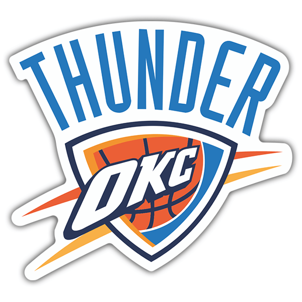 Car & Motorbike Stickers: NBA - Oklahoma City Thunder shield 0
