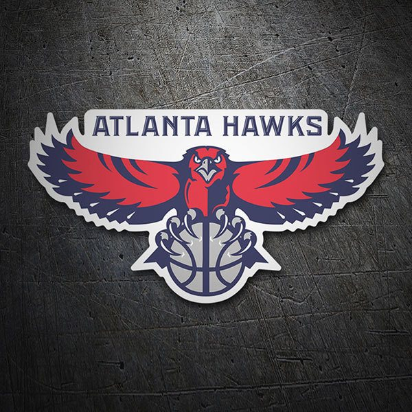 Car & Motorbike Stickers: NBA - Atlanta Hawks old shield