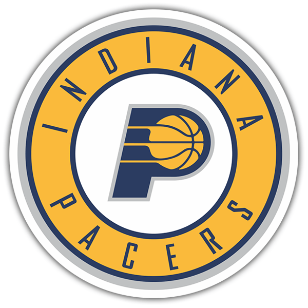 Car & Motorbike Stickers: NBA - Indiana Pacers shield 0