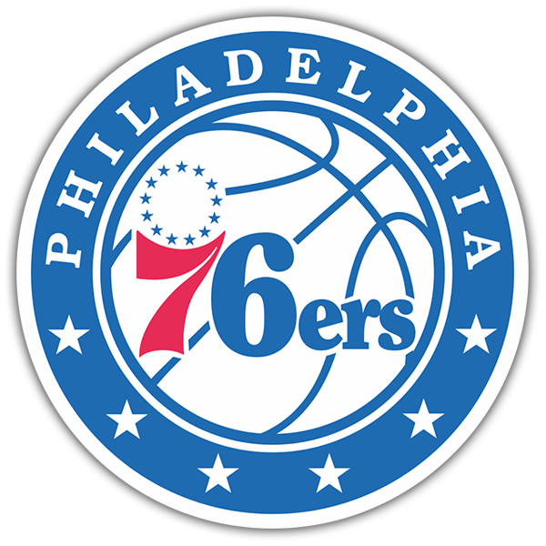 Car & Motorbike Stickers: NBA - Philadelphia 76ers shield