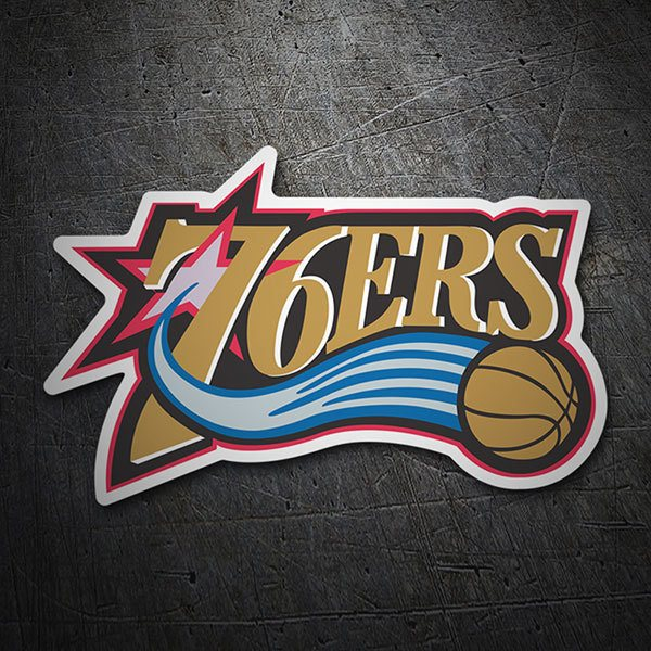 Car & Motorbike Stickers: NBA - Philadelphia 76ers old shield