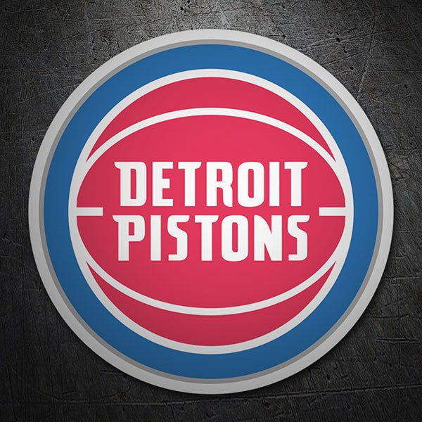 Car & Motorbike Stickers: NBA - Detroit Pistons shield