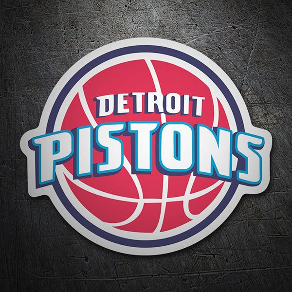 Car & Motorbike Stickers: NBA - Detroit Pistons old shield