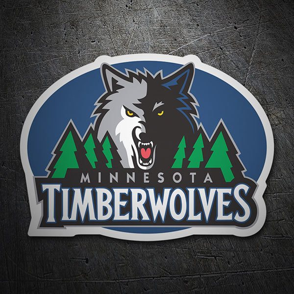 Car & Motorbike Stickers: NBA - Minnesota Timberwolves old shield