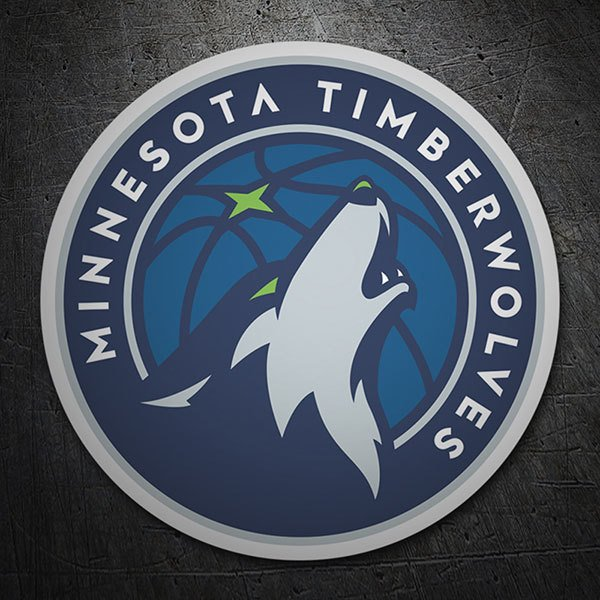 Car & Motorbike Stickers: NBA - Minnesota Timberwolves shield