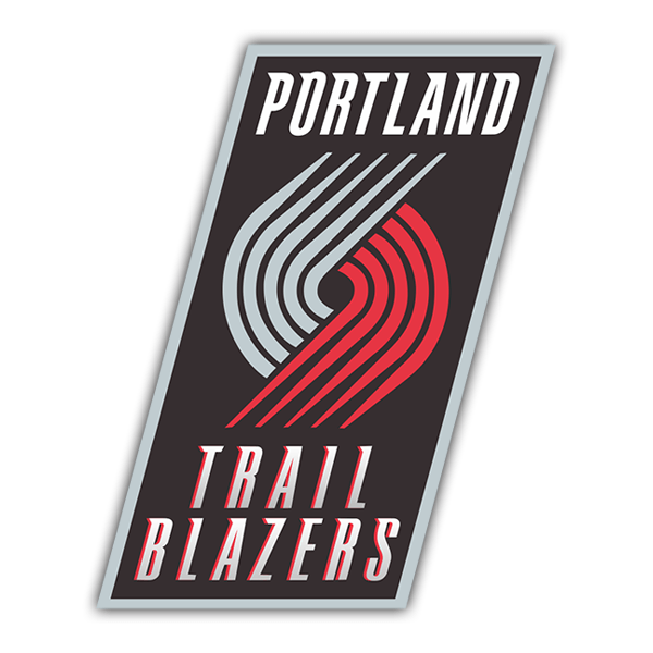 Car & Motorbike Stickers: NBA - Portland Trail Blazers old shield 0