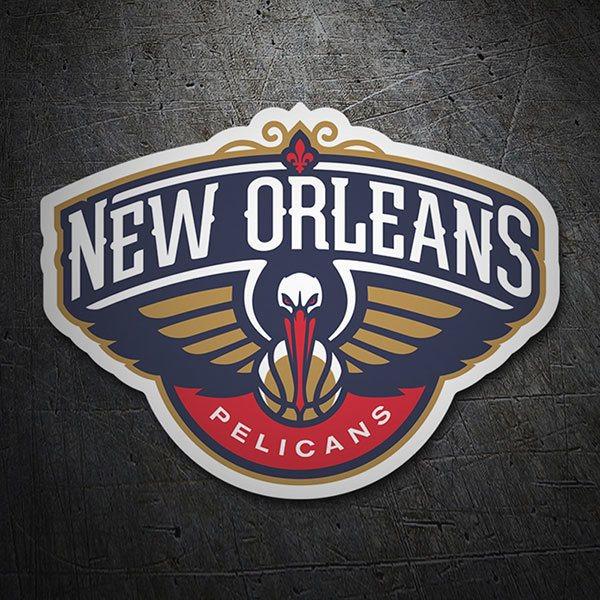 Sticker Nba New Orleans Pelicans Shield Muraldecal Com