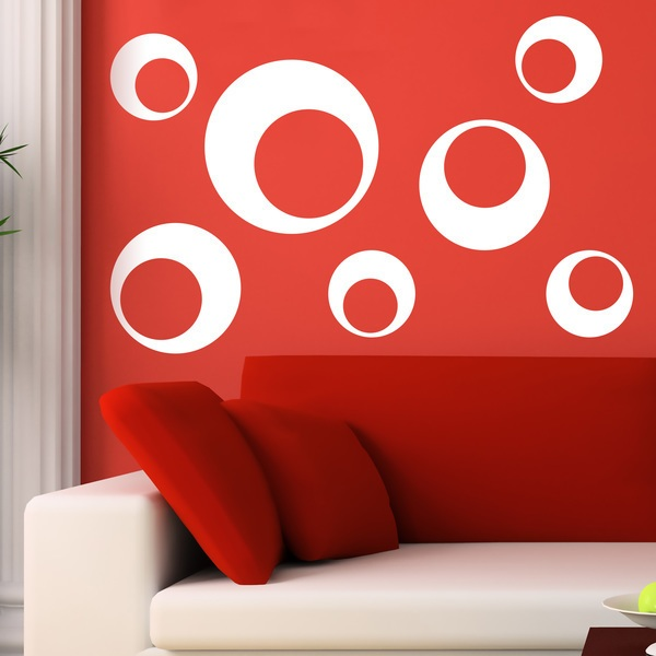 Wall Stickers: Kit 7 circles