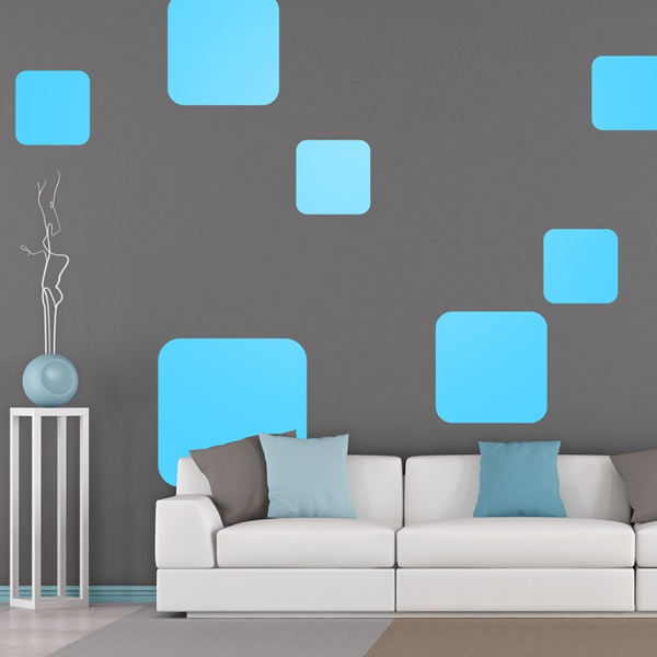 Wall Stickers: Kit of 7 Squares