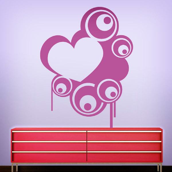 Wall Stickers: Heart with circles