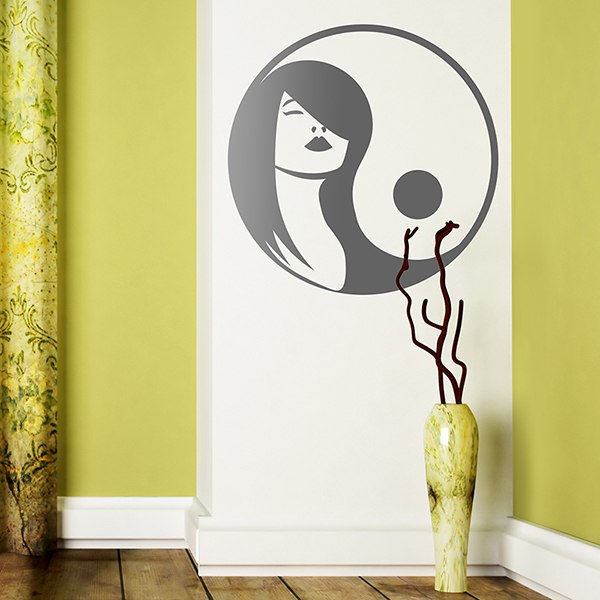 Wall Stickers: Woman Yin Yang