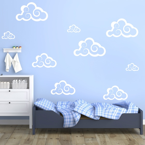 Wall Stickers: Kit 9 Clouds