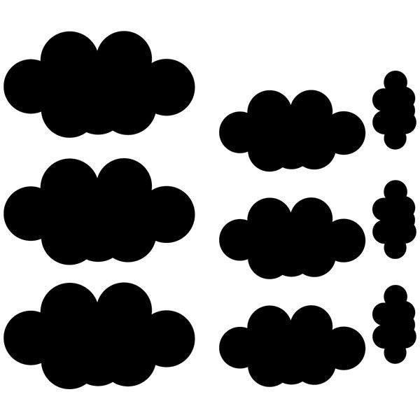 Wall Stickers: 9 Clouds Kit