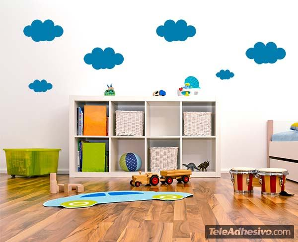 Wall Stickers: Kit of  9 Clouds 3