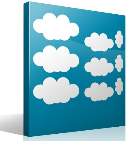Wall Stickers: Kit of  9 Clouds 4