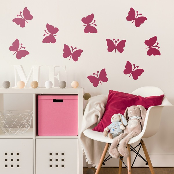 Wall Stickers: 10 butterflies Ceiba kit