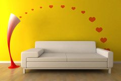 Wall Stickers: Kit 12 Hearts 3