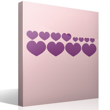 Wall Stickers: Kit 12 Hearts