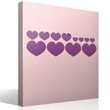 Wall Stickers: Kit 12 Hearts 4