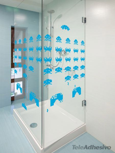 Space invaders - Space invader wall stickers ...