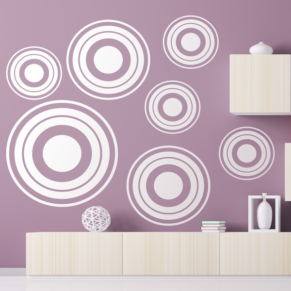 Wall Stickers: Kit 7 circles C