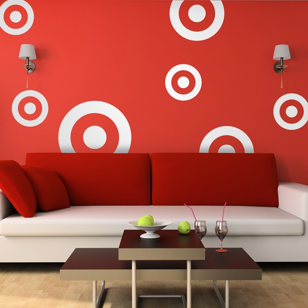 Wall Stickers: Kit 7 circles D