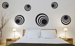 Wall Stickers: Kit 7 circles H 2