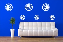 Wall Stickers: Kit 7 circles H 4