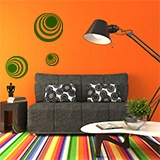Wall Stickers: Kit 7 circles H 5