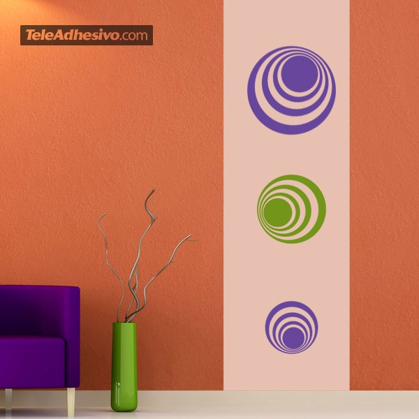 Wall Stickers: Kit 7 circles H
