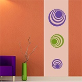 Wall Stickers: Kit 7 circles H 6