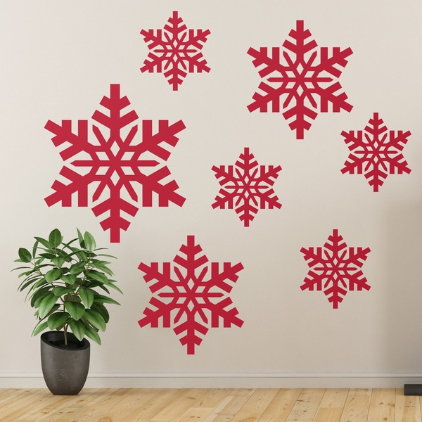 Wall Stickers: Kit 7 Christmas stars