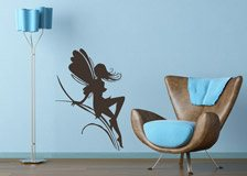 Wall Stickers: Fairy girl on herbs 4