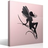 Wall Stickers: Fairy girl on herbs 6