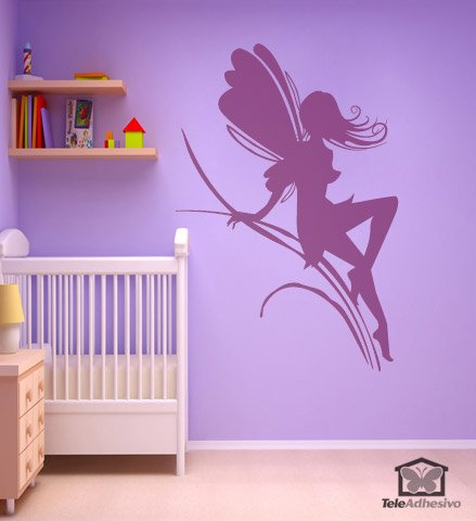 Wall Stickers: Fairy girl on herbs