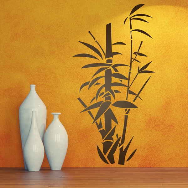 Wall Stickers: Floral bamboo canes