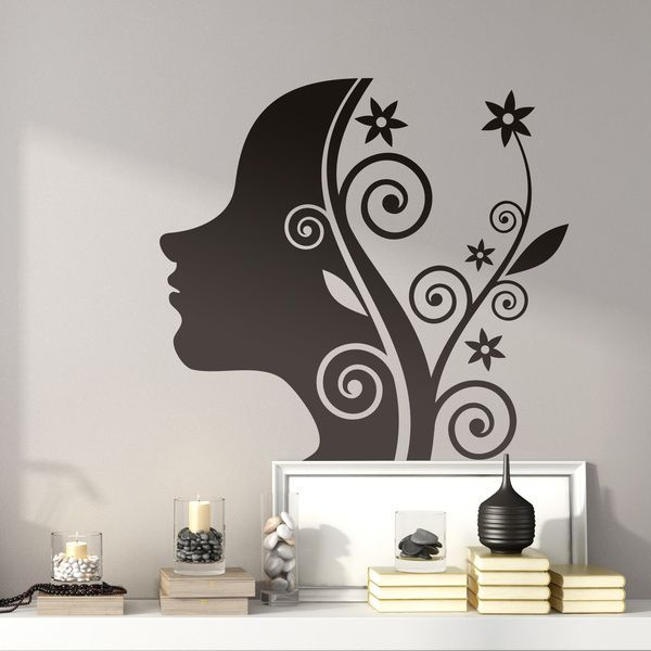 Wall Stickers: girl floral design