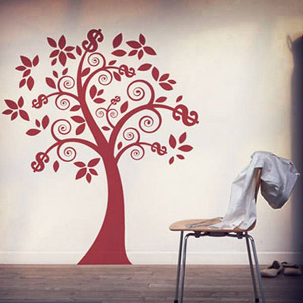 Wall Stickers: Floral Money Tree