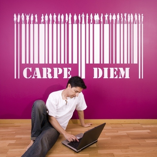 Wall Stickers: Carpe Diem - Barcode