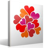 Wall Stickers: Hearts 4