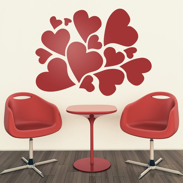Wall Stickers: Hearts 0