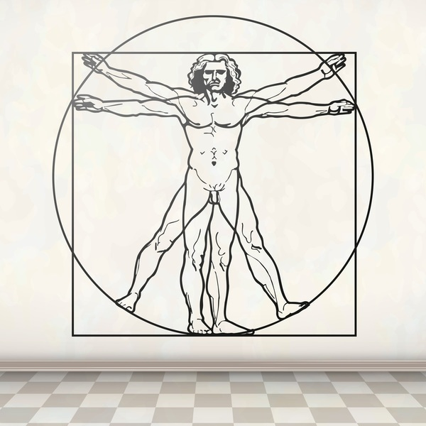 Wall Stickers: Vitruvian Man, Da Vinci