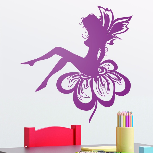 Wall Stickers: Fairy sitting on the flower