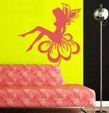 Wall Stickers: Fairy sitting on the flower 4