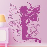 Wall Stickers: Fairy sitting on the flower 2