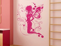 Wall Stickers: Fairy sitting on the flower 3