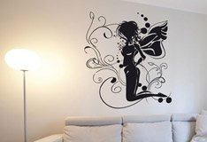 Wall Stickers: Fairy sitting on the flower 5